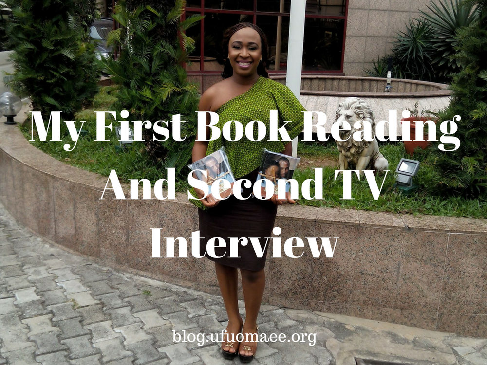 My First Book Reading And Second TV Interview