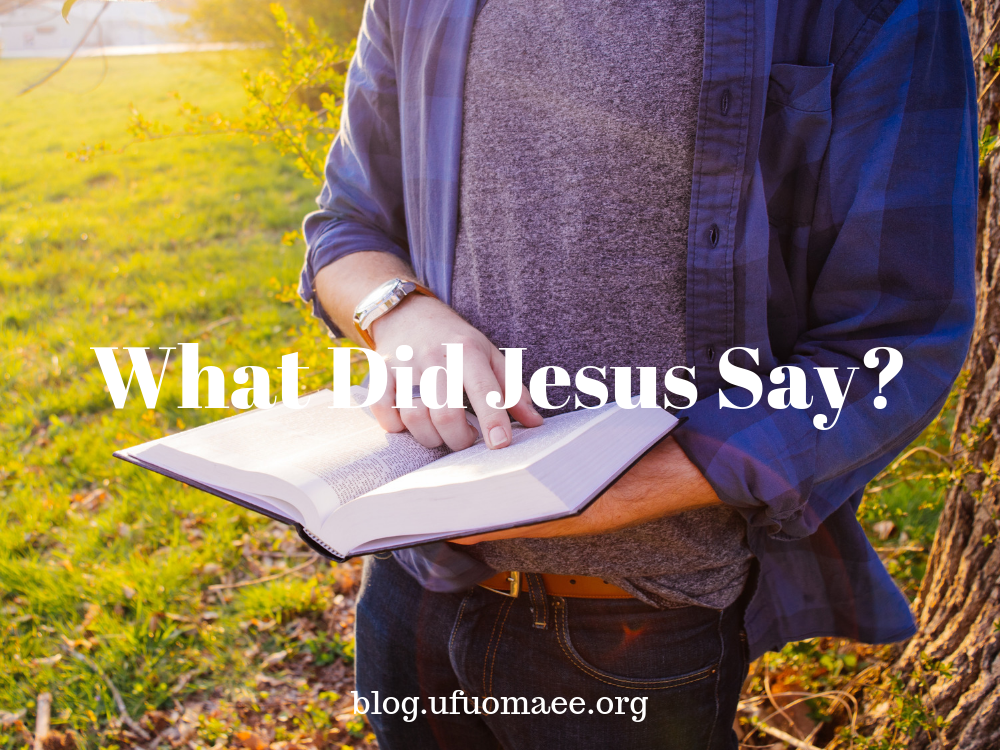 Editor's Pick: What Did Jesus Say?